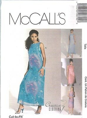8788 UNCUT McCalls SEWING Pattern Misses Semi Fitted Evening Dress FF OOP SEW