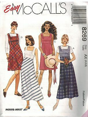 8365 Vintage McCalls SEWING Pattern Misses SemiFitted Jumper High Neckline UNCUT