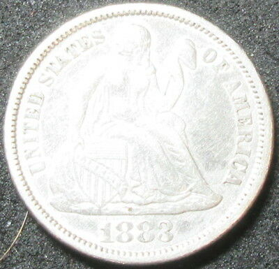 1883 Seated Liberty Dime Coin