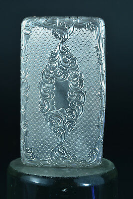 Beautiful Antique french 19Thc sterling silver &vermeil snuff box