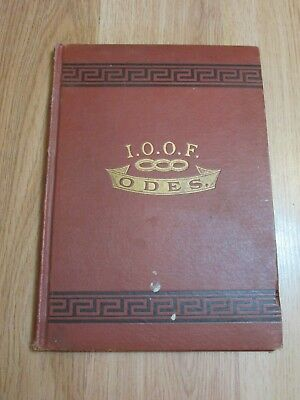 "Odd Fellows Rebekah ""The Odes"" Music Book Revised 1911"