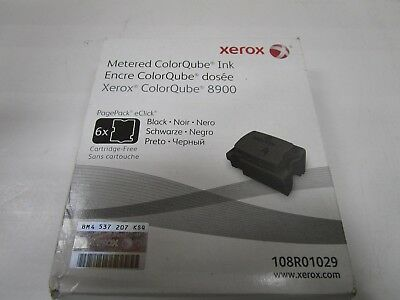 GENUINE XEROX ColorQube BLACK INK 6 PK 8900 108R01029 NEW SEALED BOX SEE PHOTOS