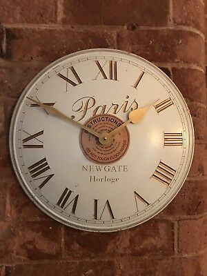 B/N Newgate Paris Convex Wall Clock In Antique White And Gold