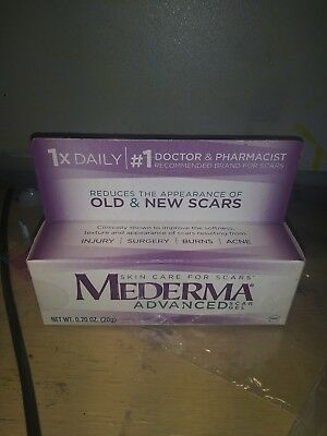 Mederma Advanced Scar Gel Reduces Appearance of Old & New Scars .70 oz exp 10/19