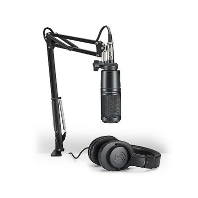 Audio Technica AT2020PK Podcasting Microphone & Headphone Pack AT2020 PK Mic Set