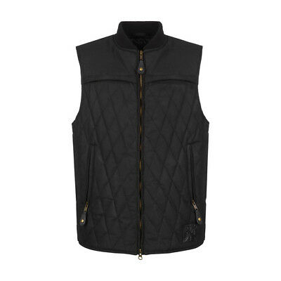 John Doe Lowrider Wax Cotton Bodywarmer Vest - Black