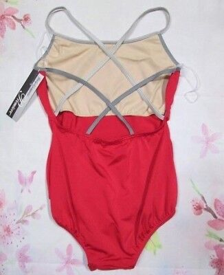 NEW Size Large -Fits Small Adult Leotard Dance Gymnastics Ballet Costume SA Red
