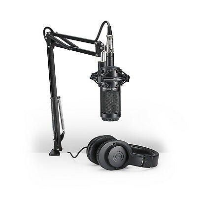 Audio Technica AT2035PK Podcasting Microphone & Headphone Pack AT2035 PK Mic Set