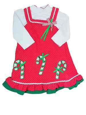 c4100f50a69 INFANT GIRLS RED Candycane Stripe Christmas Holiday Party Dress Baby ...