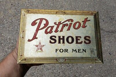 Vintage Patriot Shoes for Men TOC Tin Sign Shoe American America New England