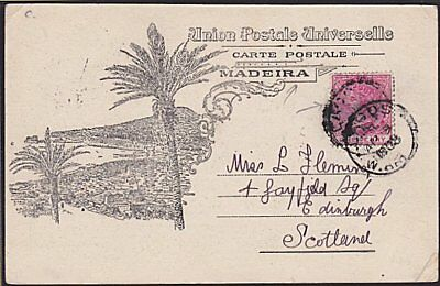 LAGOS NIGERIA 1903 QV 1d on postcard used to Scotland.......................1480