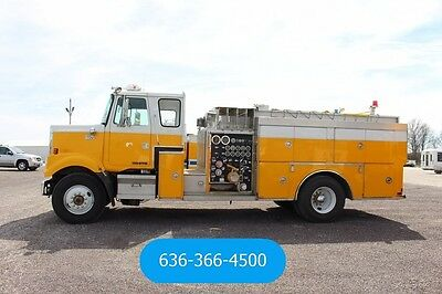 1983 Volvo White Road Boss Used Detroit 6V 92 Low Mile Fire Truck Grain Chassis