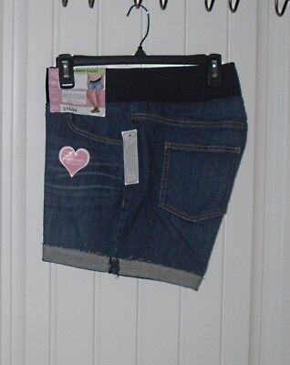 NEW Womens Great Expectations Fit To Flatter Maternity Dark Denim Shorts 2XL  20