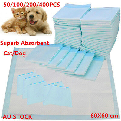 100/200/400 PCS 60x60cm Puppy Pet Dog/Cat Toilet Training Pads Super Absorbent