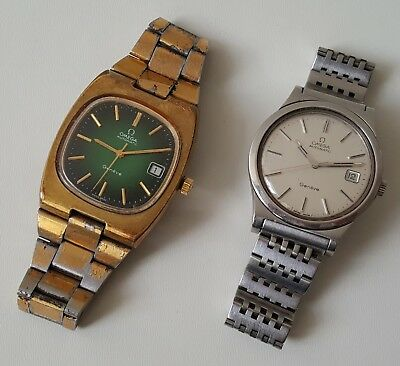 2 Vintage Omega Automatic Wrist Watches / Working But Sold As Spares / Repairs