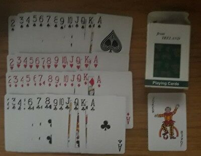 From Ireland Deck of  Playing Cards in Box Souvenir Shamrocks
