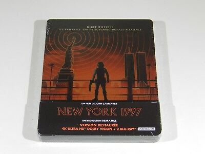 Escape From New York 4K Ultra HD Blu-ray Steelbook [Import] RARE RGN FREE 4K
