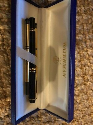 New Never Used Waterman Rhapsody Mineral Blue Rollerball Pen with 2 Refill