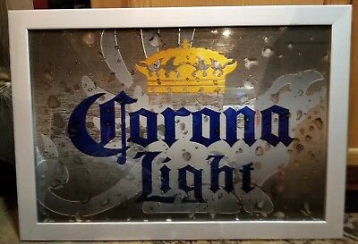 Vintage Corona Extra Beer Framed Mirror Advertising Sign~Bar Decor 26.5 ×19