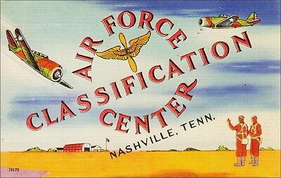 Military: Air Force Classification Center, Nashville, TN. Airplanes. Linen.