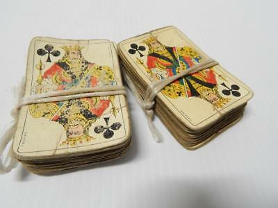 Lot Of 2 Vintage Old Italian Playing / Cards Wonderful Graphics Rare2Find Decks