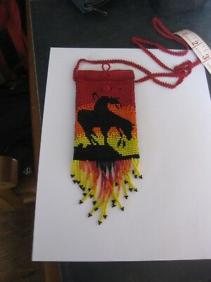 End Of Trail Medicine Pouch Bag Beaded
