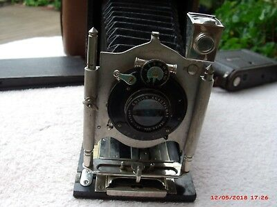 Antique  Film  Camera, Made By Houghtons, London,  With Film Pack?