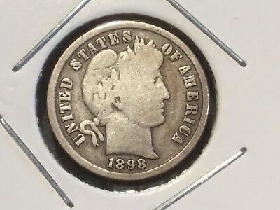 "1898 US ""Liberty Head"" Dime. 120 years old."