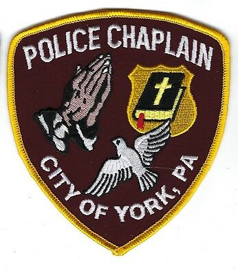 City of York (York County) PA Pennsylvania Police CHAPLAIN patch - NEW!