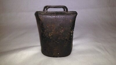 """Antique,Vintage hand forged riveted Cow Bell """"Great rusty patina."""""""