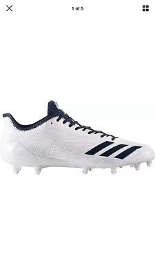 online store 99243 606fc New Adidas Adizero 5-star 6.0 Football Cleats Size 13 White. Navy Blue