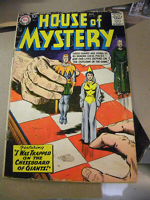 DC 1958 HOUSE OF MYSTERY #77 Chessboard of Giants Silver Age kv