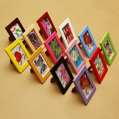 Classic Wooden Photo Frame Multi-color Choose Picture Holder Table Decor Props