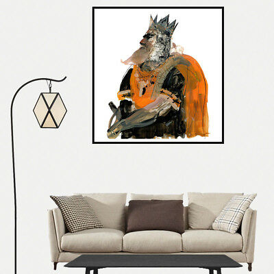 Watercolor Paint Crown King Fairy Tale Canvas Poster Print Picture Home Decor