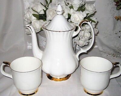 Royal Albert - Val D'Or - Coffee Pot (4Cup) and Mugs