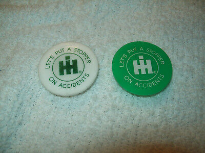 2 International Harvester Tractor Truck Plastic Bottle Cap Stoppers IH Scout