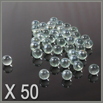 50 CLEAR  SMALL ,PLAYING MARBLES , natural glass colour , glass marbles