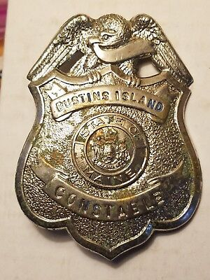 Rare Vintage Obsolete Bustins Island Constable Badge State of Maine Freeport