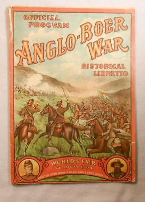 1904 St Louis Worlds Fair Official Program - Anglo-Boer War Illustrated Booklet