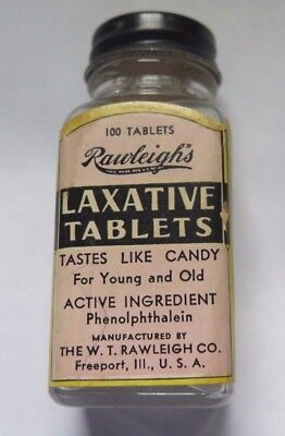 Rawleigh's Laxative Tablets Bottle