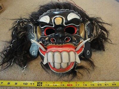 Balinese, hand carved and painted Indonesian Topeng, demon mask. Rare! Nice!