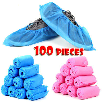 100 PC Disposable Non-woven Shoe Cover Carpet Cleaning Protective Anti-slip -BM6
