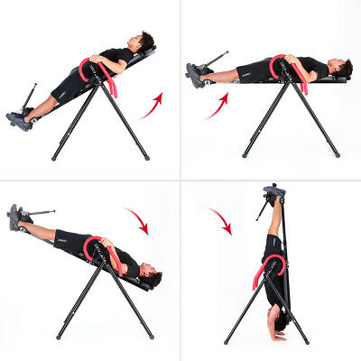 Inversion Table Back Pain Relief Therapy Fitness Reflexology Gravity Inverter US