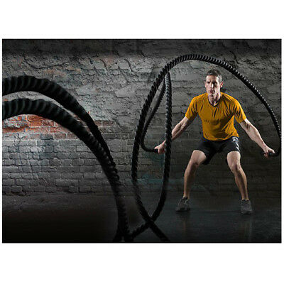 Corde Ondulatoire Battle Rope Sport Exercice Fitness 12M 38MM maison / gymnase