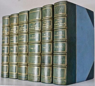 Rare 1948 1stED The Second WORLD WAR Winston Churchill Illustrated Leather