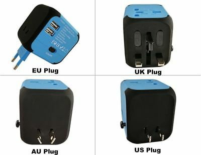 Vivkey International Travel Power Adapter with 2.4A Dual USB Charger with AC for