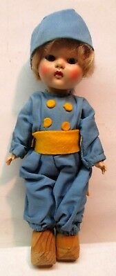 "Vintage 1950's Vogue Ginny Dutch Boy Doll  8"" Walker Original Outfit - Mint"