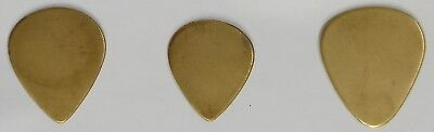 A Set of 6 Brass Guitar Picks ( 2 of Each Type ), 1mm