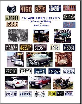 BOOK : Ontario license plates - A Century of History