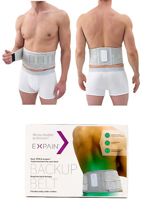 Expain Backup Adjustable Belt Heat TENS Support Lower Back Spine Pain Stimualtes
